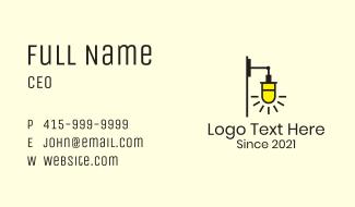 Wall Lighting Fixture Business Card