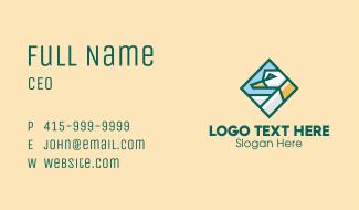 Geometric Duck Diamond  Business Card