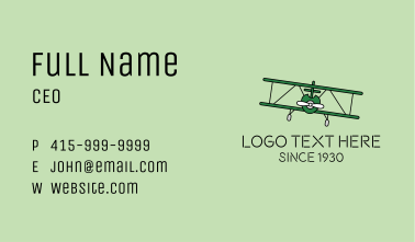 Military War Aircraft Business Card