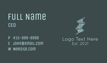 Scribble Twister Lightning Business Card