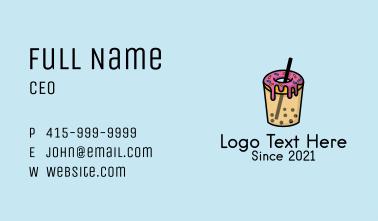 Dessert Donut Boba  Business Card