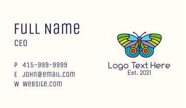 Colorful Moth Business Card