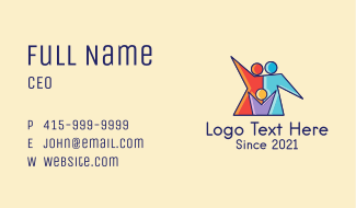 Colorful Family Care  Business Card