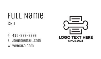Dog Bone Document Business Card