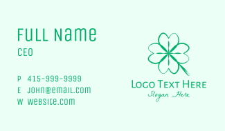 Green Shamrock Business Card