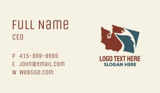 Washington Map Skunk Business Card