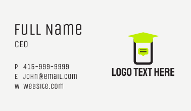 Mobile Online Class  Business Card