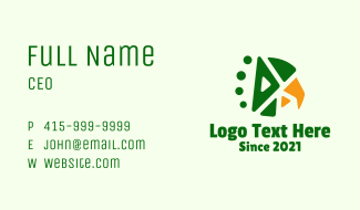 Geometric Aztec Eagle Head Business Card