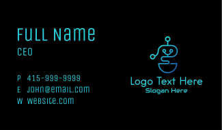 Gradient Android Robot Business Card