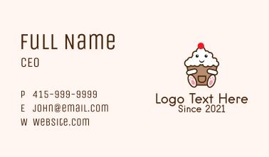 Cute Cupcake Mascot  Business Card