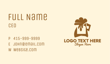 Coffee Foam Jug  Business Card
