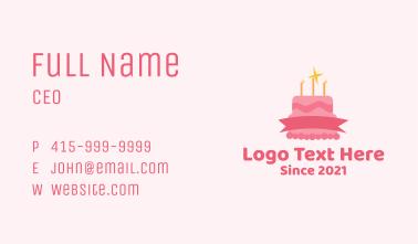 Sparkly Birthday Cake Business Card
