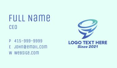 Lightning Bolt Tornado  Business Card