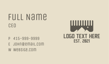 Comb Mountain Barber Business Card