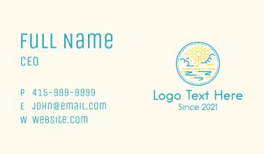 Blue Sky Sunrise Business Card