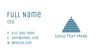 Blue Stack Structure  Business Card