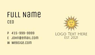 Happy Sun Rays Business Card