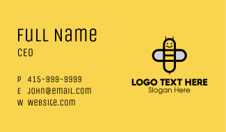 Simple Happy Bee Business Card