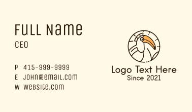 Round Hornbill Badge Business Card
