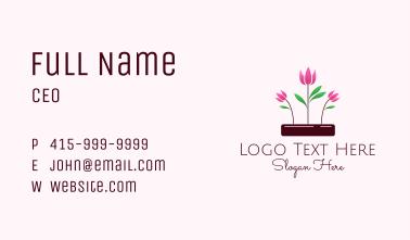 Tulip Flower Garden Business Card