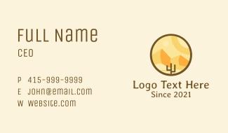 Desert Valley Badge Business Card