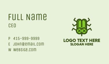 Green Dead Bug Business Card