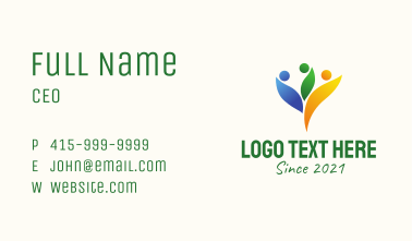 Multicolor Family Planning  Business Card