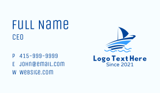 Ocean Small Boat Business Card