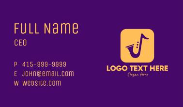 Golden Saxophone Mobile Application Business Card