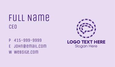 Purple Brain Emblem  Business Card