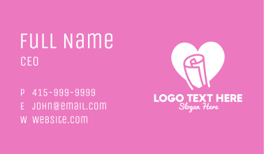 Lovely Message Paper Business Card