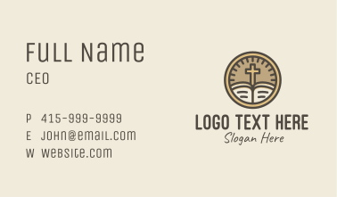 Catholic Bible Meter Business Card