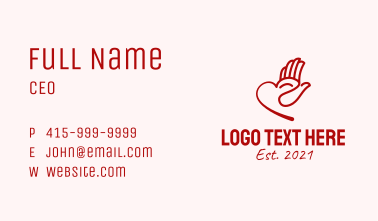 Red Heart Charity  Business Card