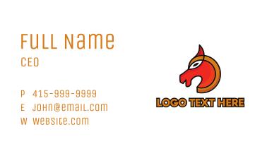 Modern Pony Outline Business Card