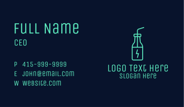 Green Energy Drink Business Card