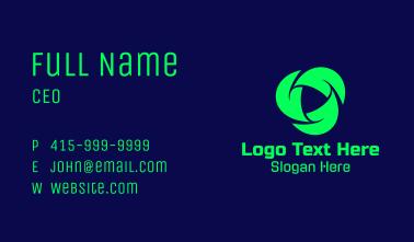 Futuristic Recycling Tech Business Card