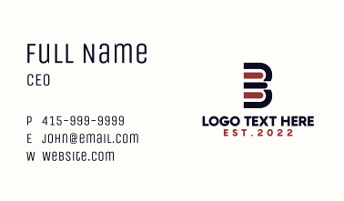 Book Stack Letter B Business Card