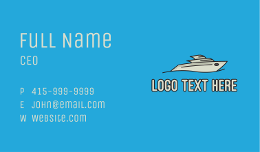 Grey Powerboat Business Card