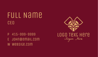 Luxury Wine Glass Business Card