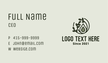Organic Oil Droplet Business Card