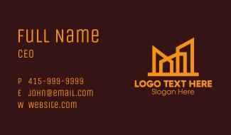 Golden Elegant Architecture Building Business Card