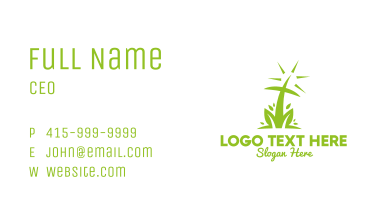 Abstract Nature Cross Business Card