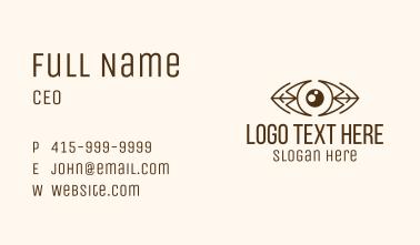 Brown Native Eye Business Card