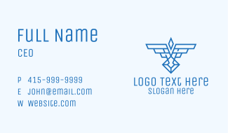 Military Wings Crest Business Card