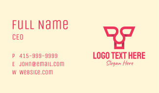 Pink Letter T Business Card