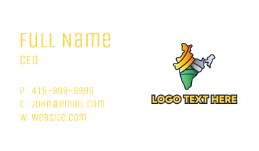 Colorful Indian Outline Business Card