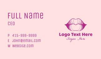 Purple Lips Business Card