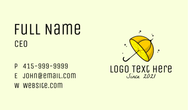 Lemon Fruit Umbrella  Business Card