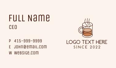 Hot Coffee Mug Business Card