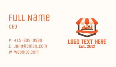 Grocery Store Icon Business Card